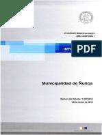 Informe Auditoria a Municipalidad de Ñuñoa