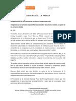 02-12-15 Comparecencias de Ex Funcionarios Se Difieren Hasta Nuevo Aviso