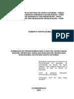 FORMAÇÃO DE PROFESSORES PARA O USO DAS TECNOLOGIAS DIGITAIS