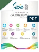 León Programa de Gobierno 2015 2018