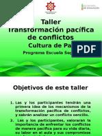 Taller Transformación Pacífica de Conflictos