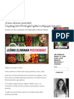 ¿Cómo Eliminar Pesticidas_ — Regina Marco