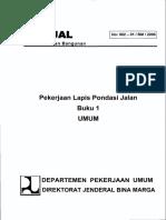 Manual Pekerjaan Lapis Pondasi Jalan