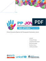 Relatoría de Encuentro Nacional de PP Joven. Edición 25-11-15