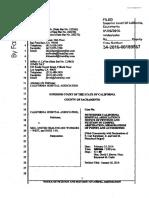 California Hospital Association's Lawsuit against SEIU-UHW for Violating Terms of Secret Partnership Agreement