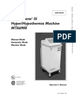 Hydrotherapy GAYMAR MEDITHERM MTA-6900 - Operators Manual