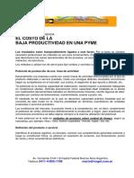 Costos de Baja Productividad