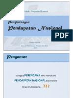 1. Penghitungan Pendapatan Nasional