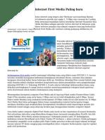 Cara Daftar Paket Internet First Media Paling baru
