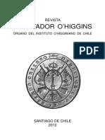Revista Libertador O'Higgins. Órgano Del Instituto O'Higginiano de Chile. (2012)
