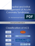 Pre Hospital and Initial Management of Acute Coronary
