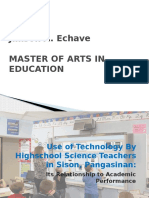 Use of Technology by Highschool Science Teachers In