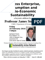 Sustainability Action  Network Annual Meeting Poster 2016