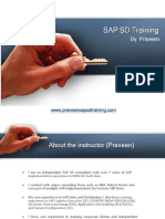 SAP SD Training by Praveen