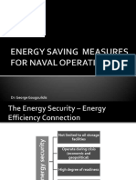 Energy-saving Measures for Naval Operations
