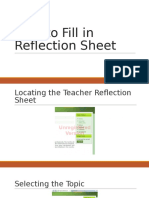 OPS English Reflection Sheet