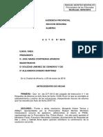 """Resolución Audiencia Previas 34/12, Pieza Separada """"LA FABRIQUILLA"""""""