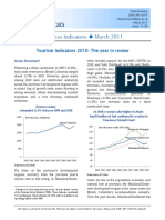Tourism Indicators 2010 the Year in Review