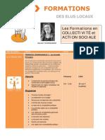 Formations 1er Semestre 2016 Collectivité Et Action Sociale