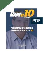 Programa de Governo Ruy