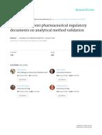 Analysis of Recent Pharmaceutical Regulatory Documents on Analytical Method Validation