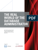 The Real World of the Database Administrator White Paper 15623