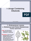 Alkaloidal crude Drugs