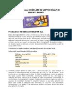 Ciocolata Cu Lapte Si Biscuiti Sarati