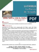 HORA SANTA CON EL PAPA FRANCISCO. La Familia, La Puerta de La Acogida (33)