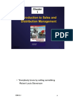 Chapter 1 Introduction to Sales and Distribution Management