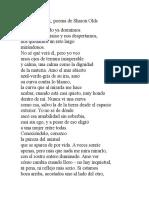 El Conocer, Poema de Sharon Olds