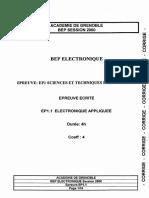 Corrige Sujet Electro Appl n1