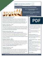 Headway Darlington & District  Feb - April Sessions