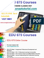 EDU 675 Academic Success/snaptutorial