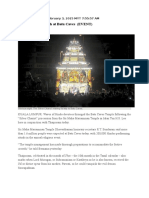 A Celebration of Faith at Batu Caves