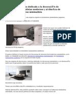 Interesante empresa dedicada a la decoración de dormitorios minimalistas modernos y al diseño de dormitorios de diseno minimalista
