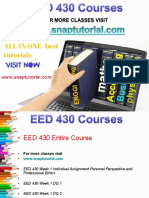 EED 430 Academic Success/snaptutorial