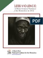 SENSELESS VIOLENCE REPORT Hate Crimes Report 2012