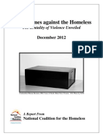 Hate Crimes Against the Homeless Violence Unveiled 2012
