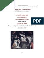 Traité - Saint Thomas d'Aquin