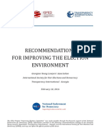 Recommendations for Improving the Election Environment