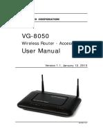 Manual Usuario Fabricante Router Fibra Optica Comtrend VG 8050
