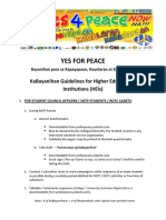KaBayanihan Guidelines for Higher Educational Institutions