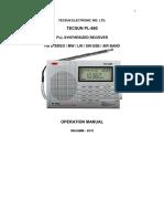 Manual Radio Tecsun PL 660 Español