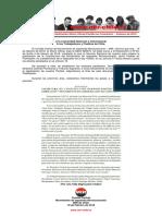 Declaración Pública – Publicación Diario Oficial Partido en Formación – 10 de Febrero de 2016