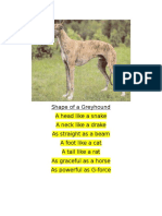 shape of a greyhound