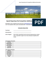 Hyperloop Pod Competition Additional Data Form