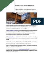 Aspectos a tener en cuenta para el alquiler de oficinas en Madrid