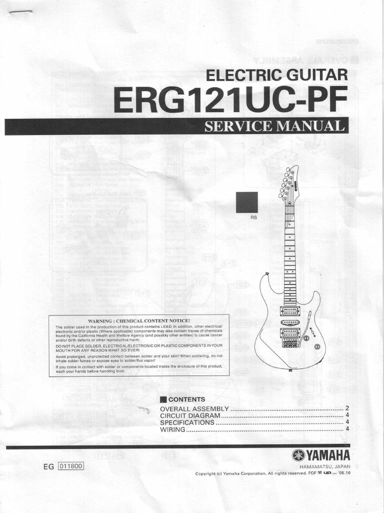 Yamaha Electric Guitar Wiring Diagram | Manual e-books on