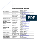 Listado de Receptores Judiciales Enero 2015